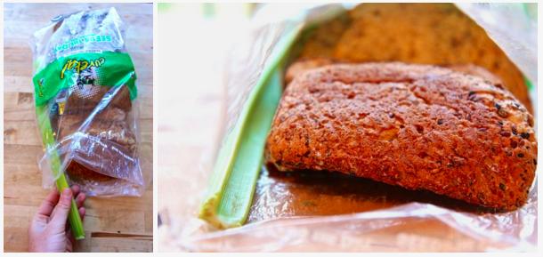 Image result for celery in bread bag