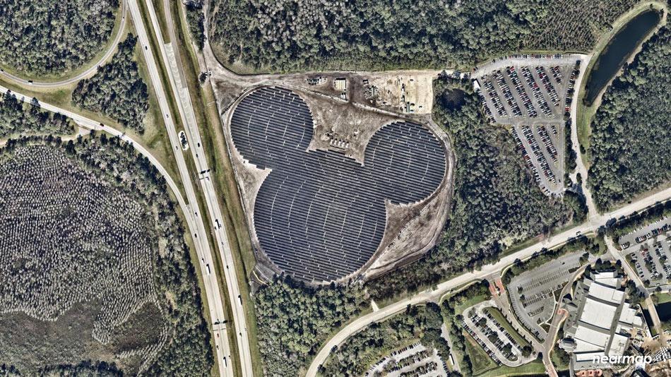 Disney Has Created A Solar Farm Shaped As Mickey Mouse